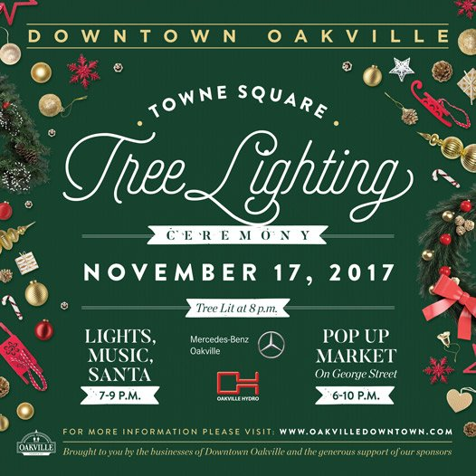 Tree Lighting Downtown Oakville